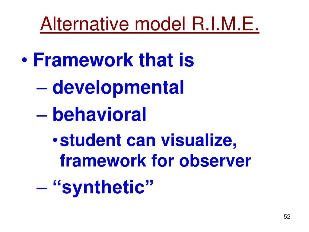 Alternative model R.I.M.E.