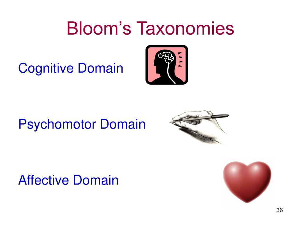 Bloom's Taxonomies