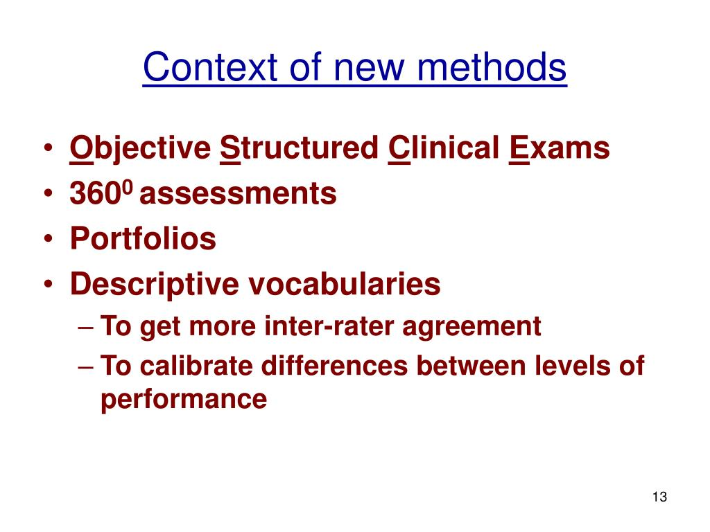 Context of new methods