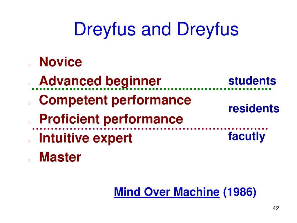 Dreyfus and Dreyfus