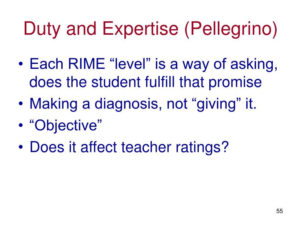 Duty and Expertise (Pellegrino)
