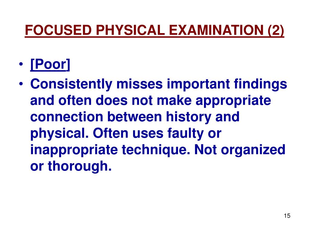 FOCUSED PHYSICAL EXAMINATION (2)