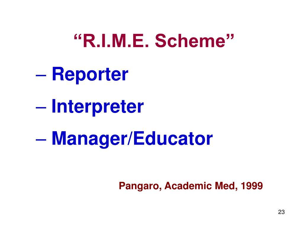 """""""R.I.M.E. Scheme"""""""
