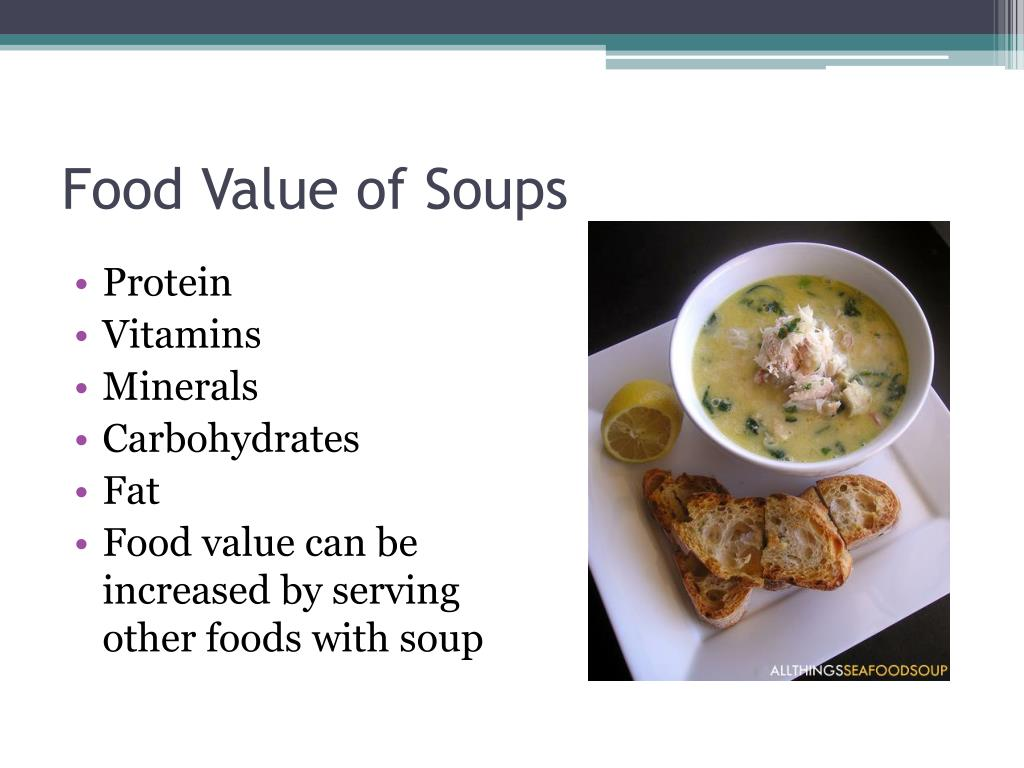 Food Value of Soups