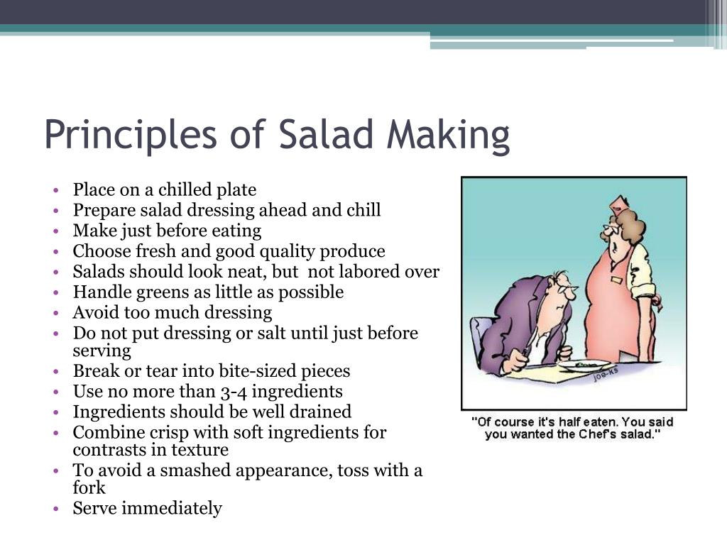 Principles of Salad Making