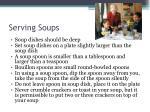 serving soups