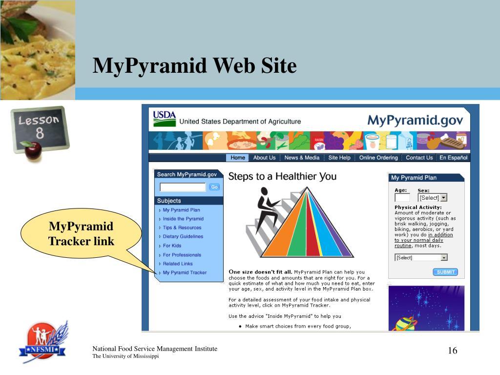 MyPyramid Web Site