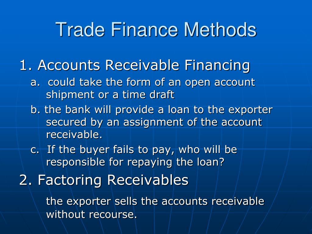 Trade Finance Methods