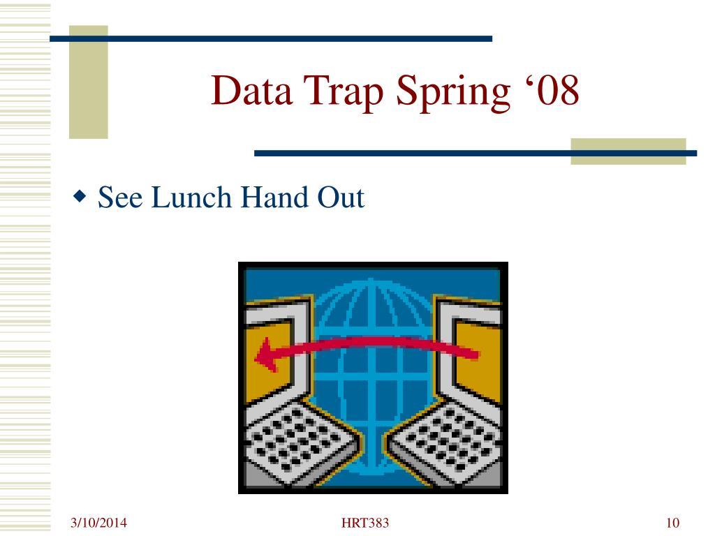 Data Trap Spring '08