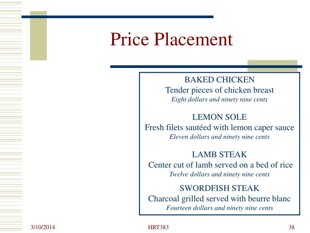 Price Placement