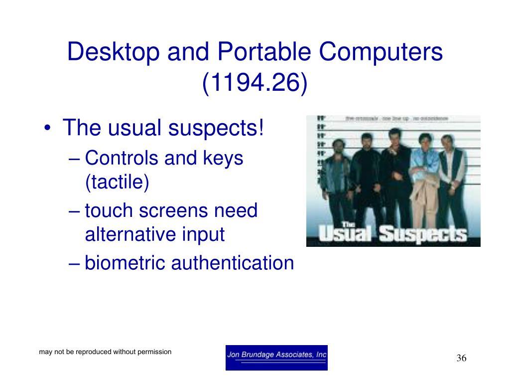 Desktop and Portable Computers (1194.26)
