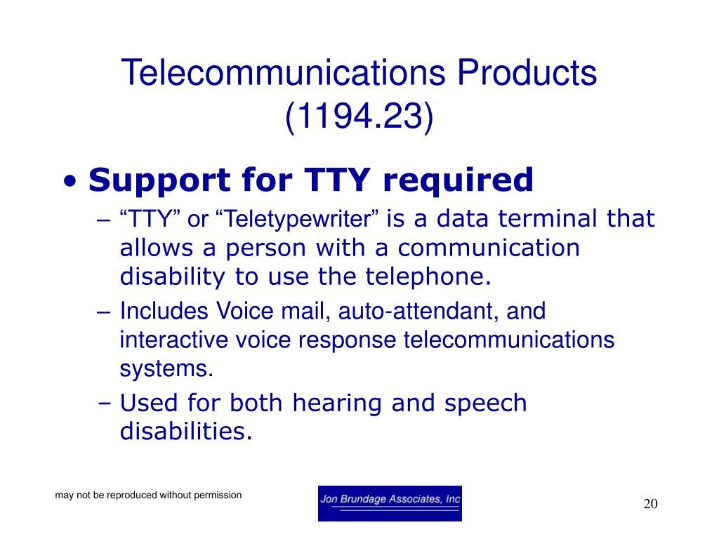 Telecommunications Products (1194.23)
