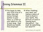 dining dilemmas ii