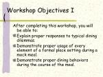 workshop objectives i4