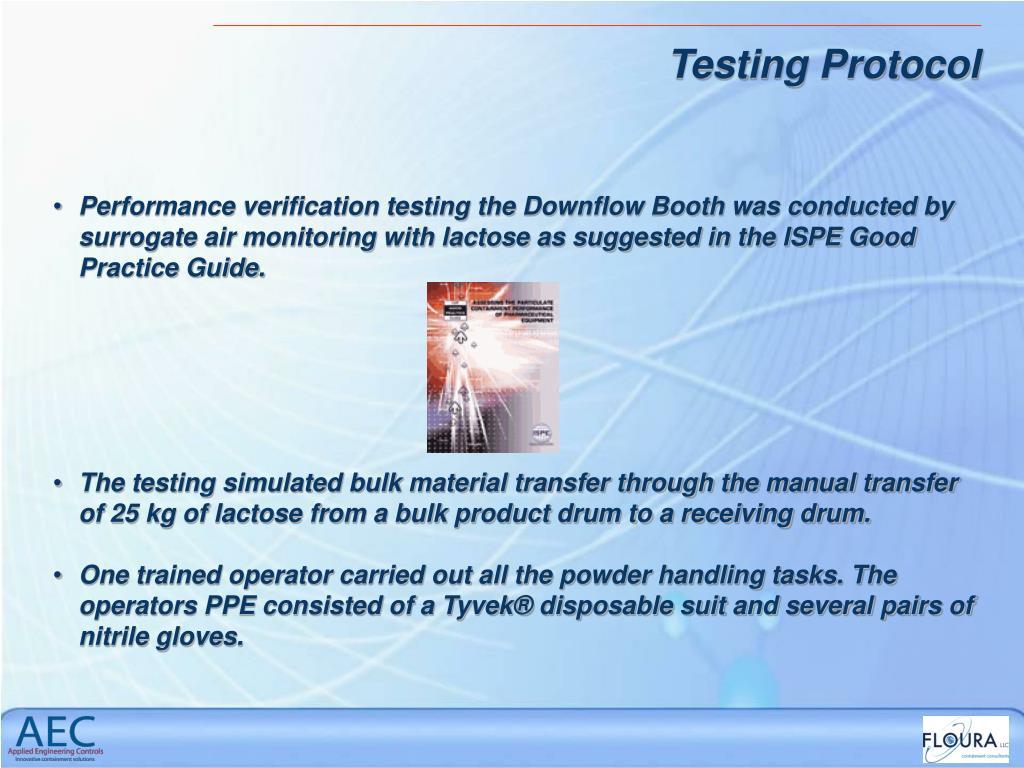 Testing Protocol