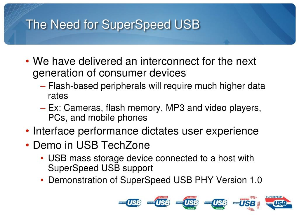 The Need for SuperSpeed USB