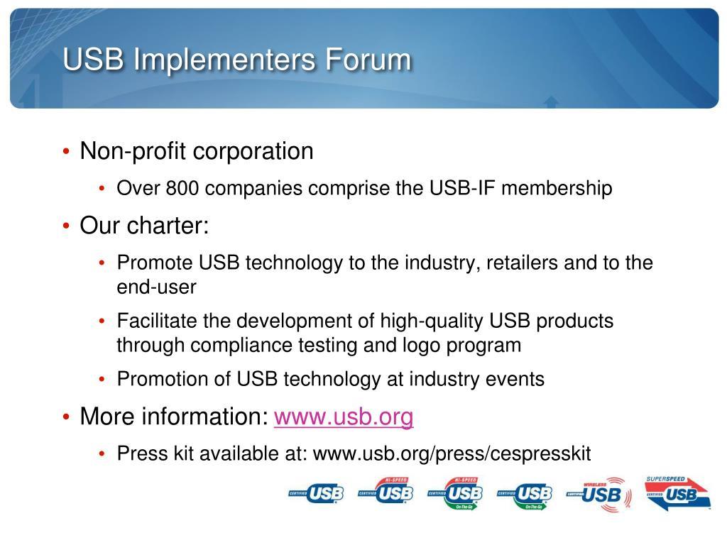 USB Implementers Forum