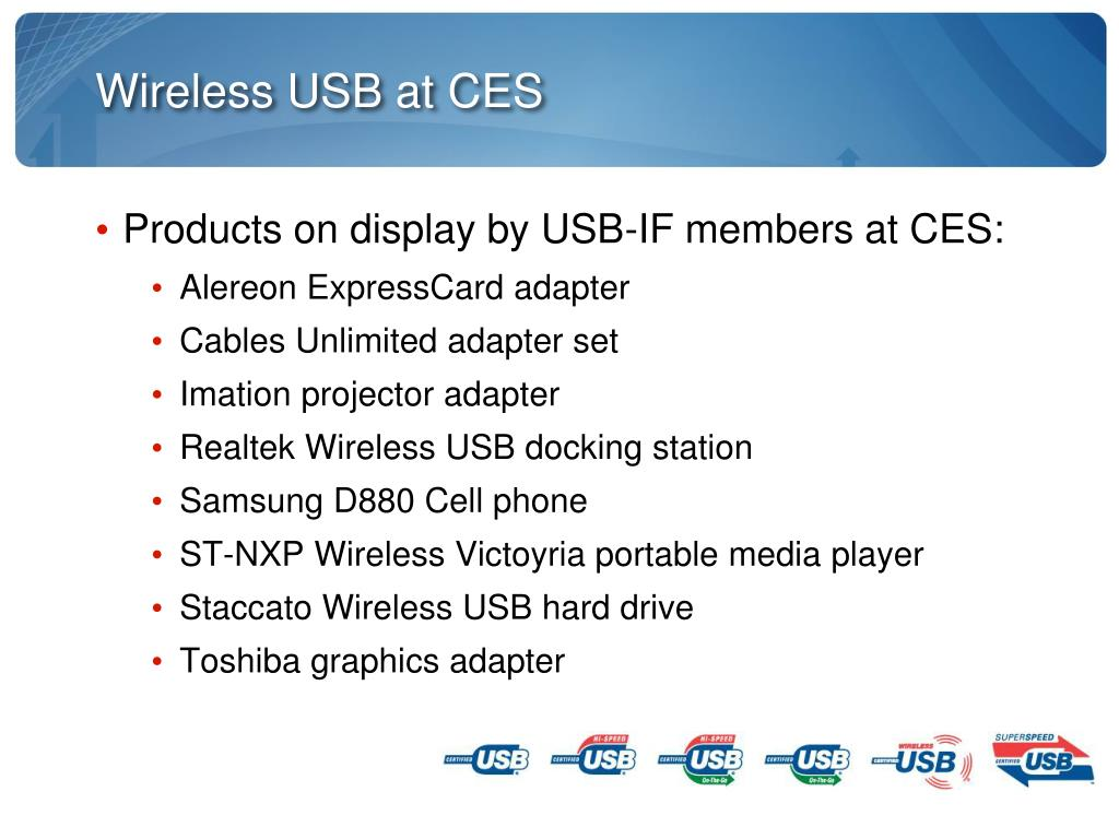 Wireless USB at CES