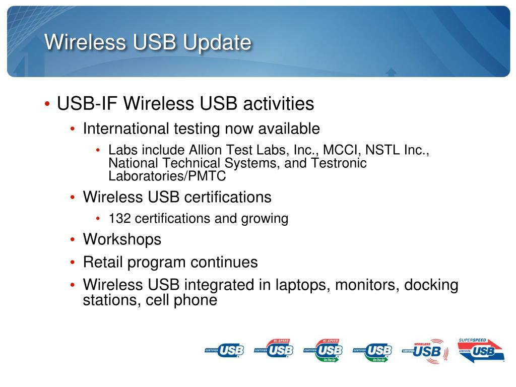 Wireless USB Update