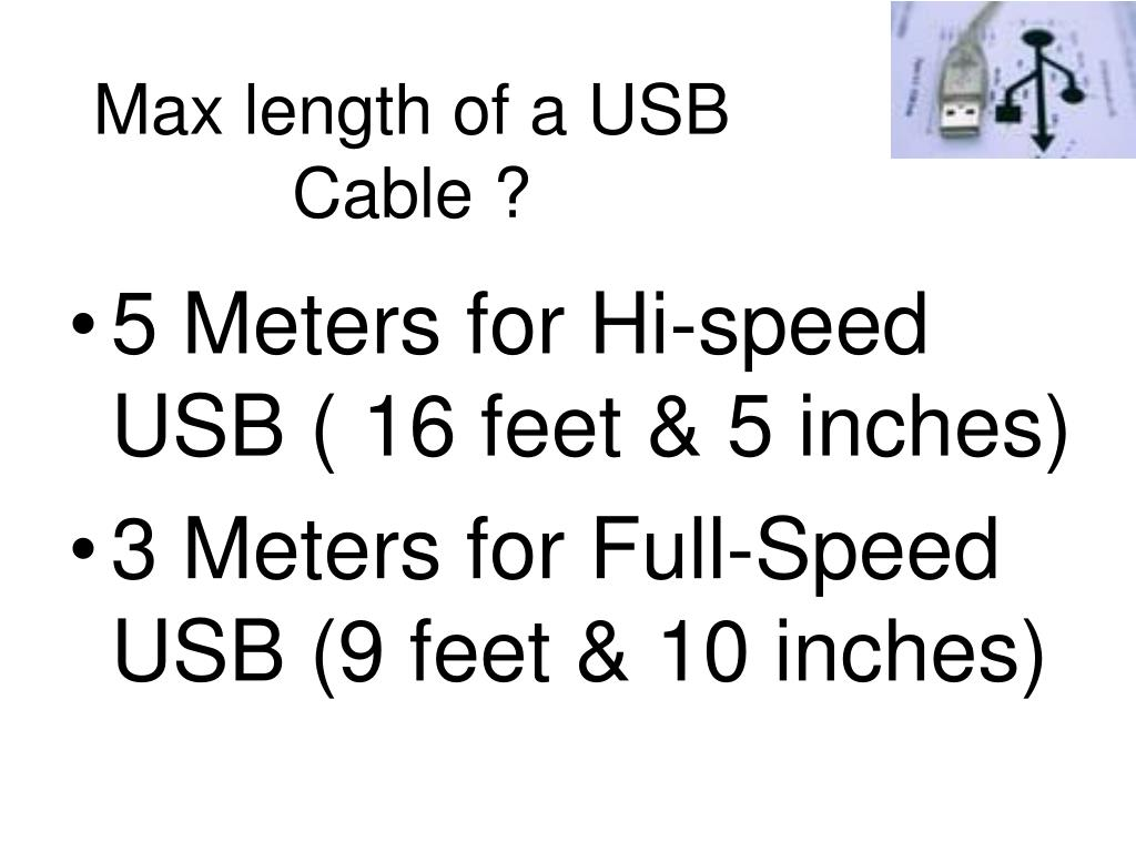 Max length of a USB Cable ?
