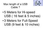 max length of a usb cable