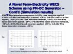 a novel farm electricity wecs scheme using pm dc generator cont d simulation results