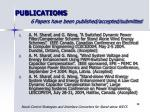 publications 6 papers have been published accepted submitted