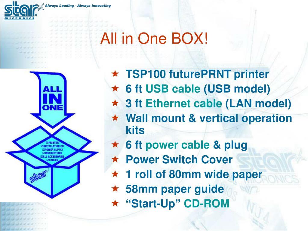 TSP100 futurePRNT printer