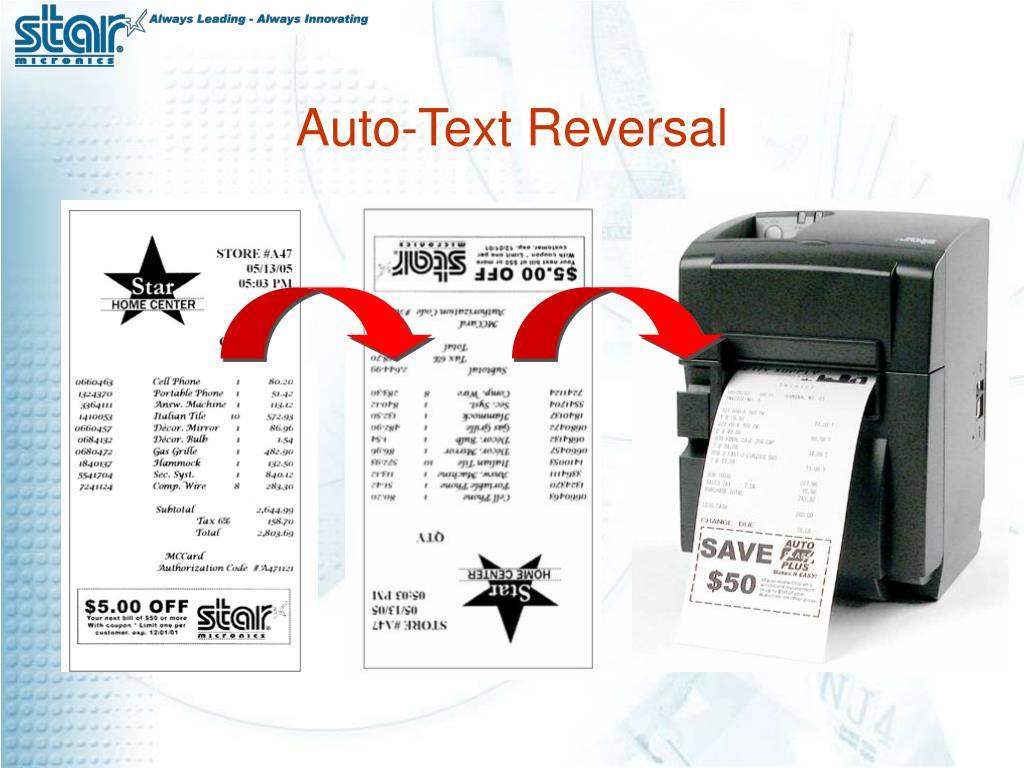 Auto-Text Reversal