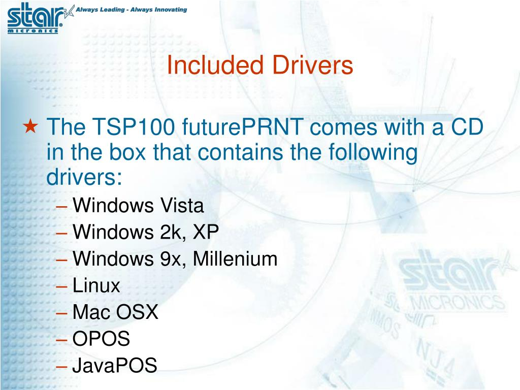 Included Drivers