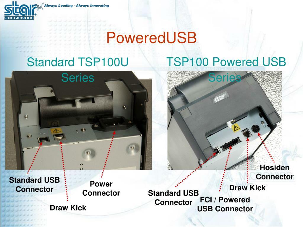 TSP100 Powered USB Series