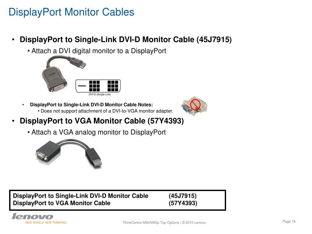 DisplayPort Monitor Cables