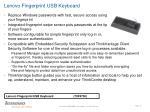 lenovo fingerprint usb keyboard