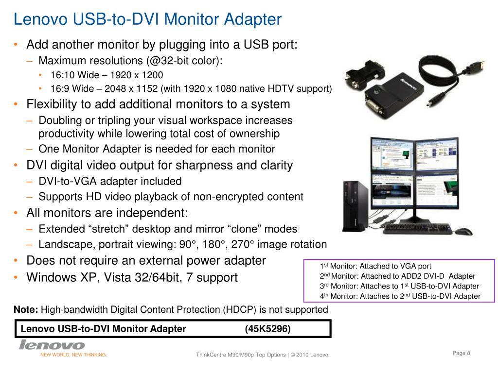 Lenovo USB-to-DVI Monitor Adapter
