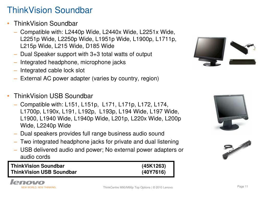 ThinkVision Soundbar