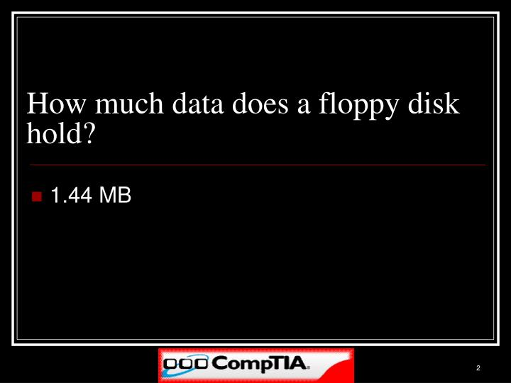 How much data does a floppy disk hold
