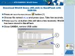 download wince demo nk nb0 in nandflash with sam ba13