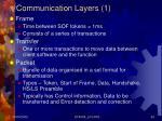 communication layers 1
