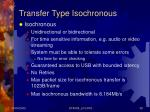 transfer type isochronous