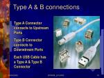 type a b connections