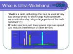 what is ultra wideband