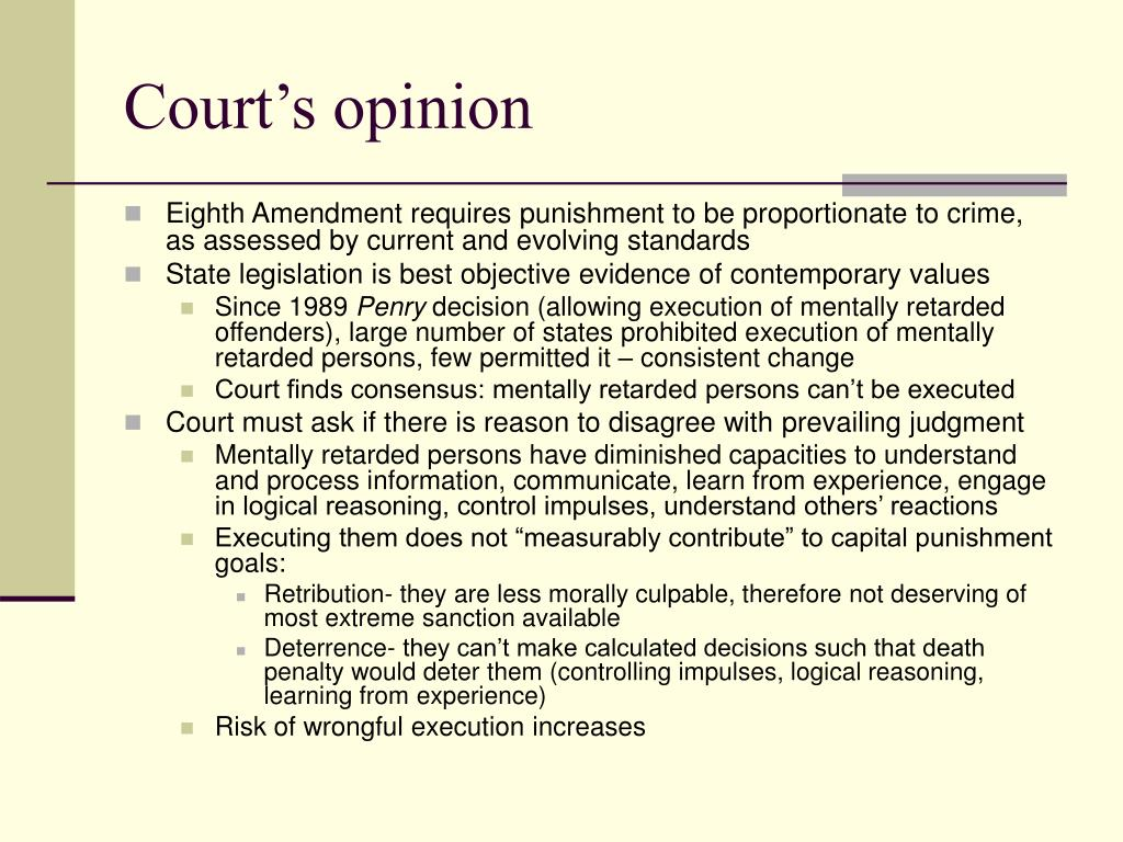 Court's opinion