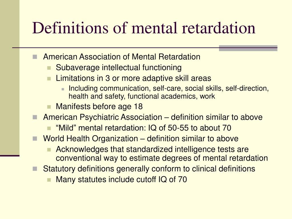 Definitions of mental retardation