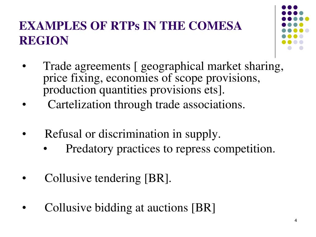 EXAMPLES OF RTPs IN THE COMESA REGION