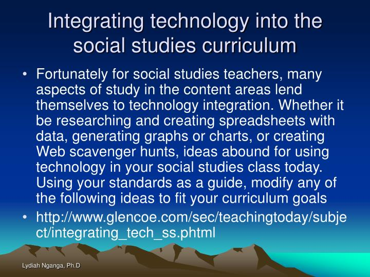 Integrating technology into the social studies curriculum