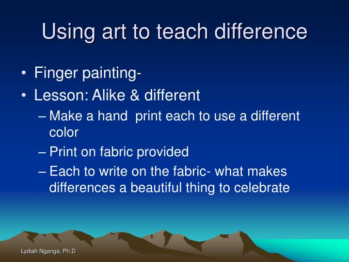 Using art to teach difference