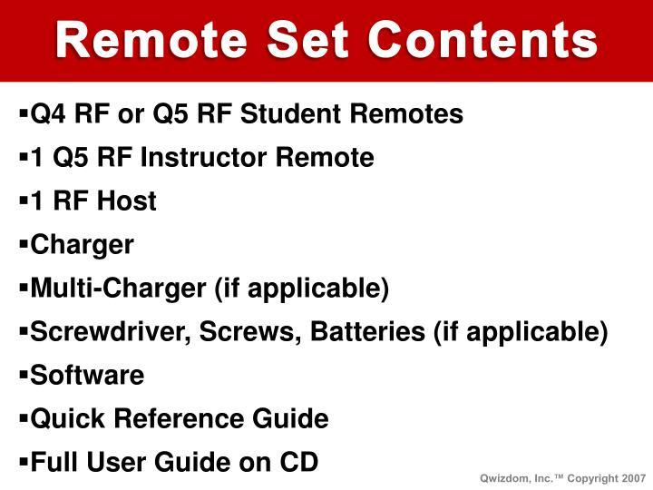 Remote Set Contents