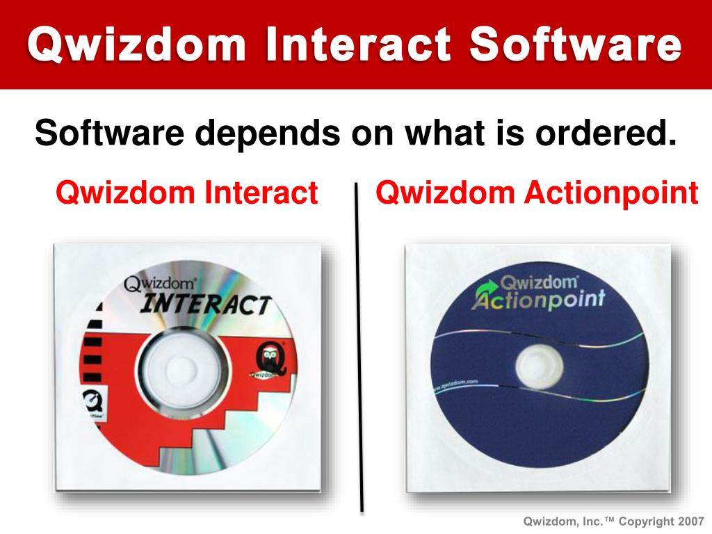 Qwizdom Interact Software
