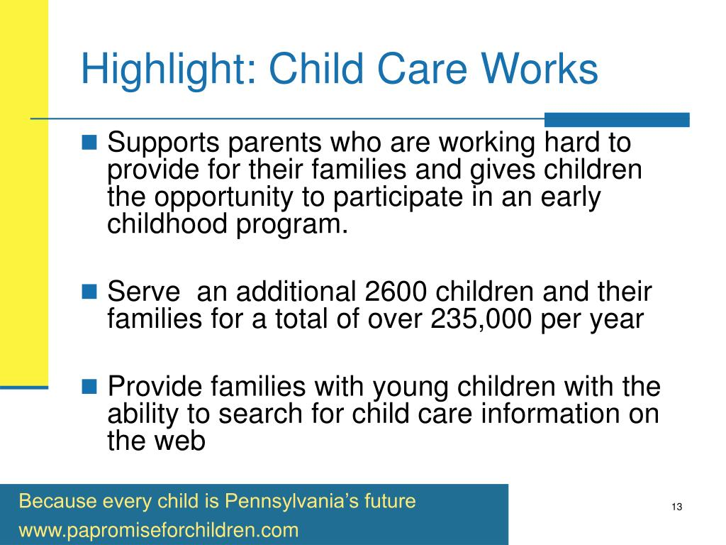 Highlight: Child Care Works