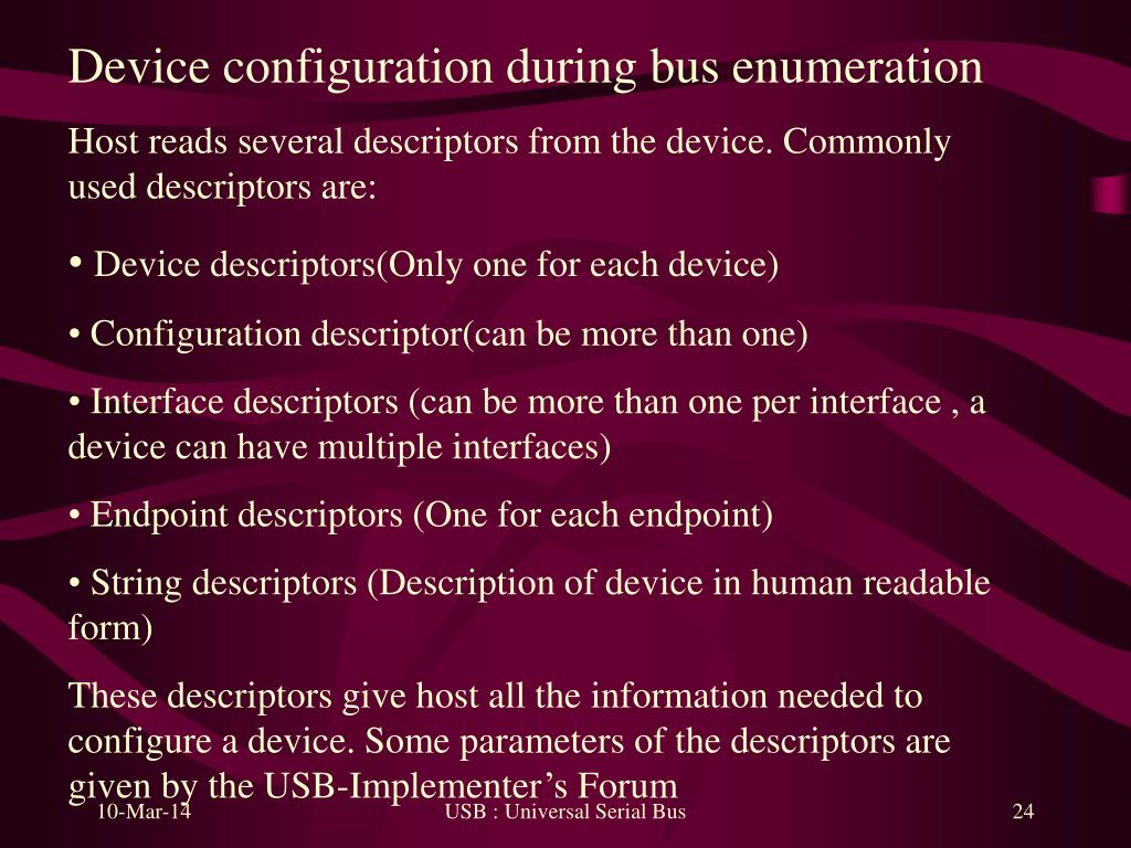 Device configuration during bus enumeration
